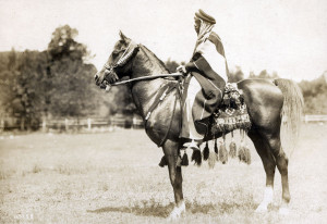 Mannaky Jr (believed to be) with Said Abdallah riding