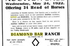 Diamond Bar advertisement in Pacific Rural Press, Vol. 103