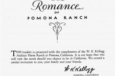 The Romance of Pomona Ranch (Kellogg's)