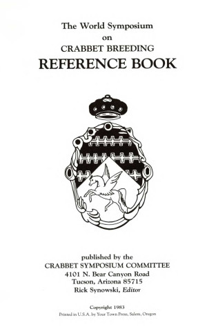 The World Symposium of Crabbet Breeding Reference Book