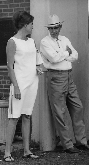 Tish Hewitt and Jimmie Dean at the 1966 US Nationals, Springfield IL