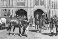 Queen Victoria Receiving Arabian Horses from the Sultan of Muscat