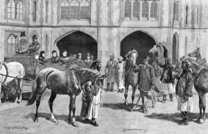 Queen Victoria Receiving Arabian Horses from the Sultan of Muscat
